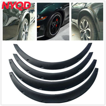 4 Pcs Car Fender Flares Arch Wheel Eyebrow Protector/mudguards Sticker Universal