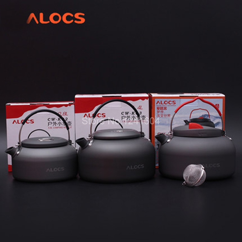 Alocs Outdoor Kettles Camping Teapot Water Kettle Coffee Pot 0.8L 1.4L