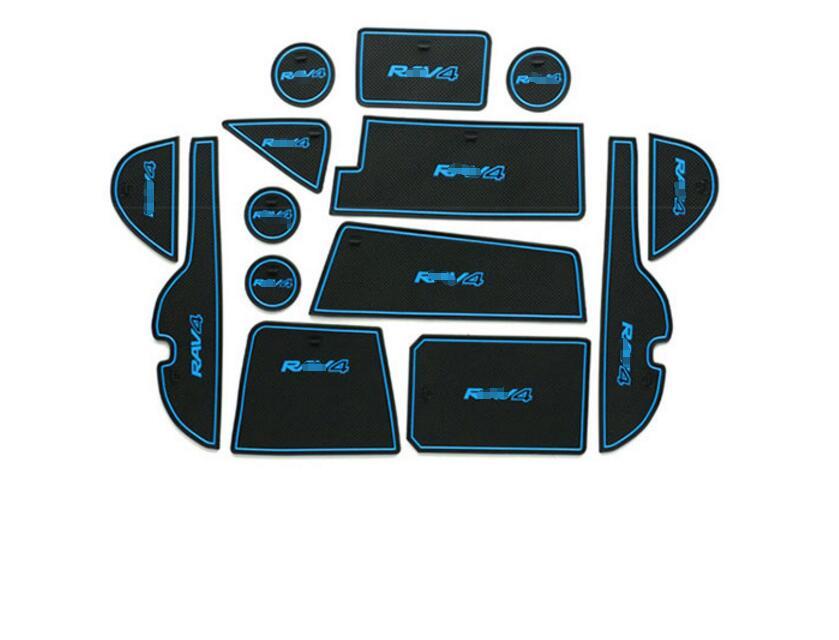 Для Toyota RAV4 Rav 4 Cancello слот di Pad antiscivolo coppa коврики Нескользящие коврик интерьер автомобиля стиль Accessori порта Scanalatura ...