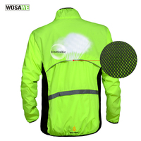 WOSAWE Windproof Cycling Jackets Men Women Riding Waterproof Cycle Clothing Bike Long Sleeve Jerseys Sleeveless Vest Wind Coat 1