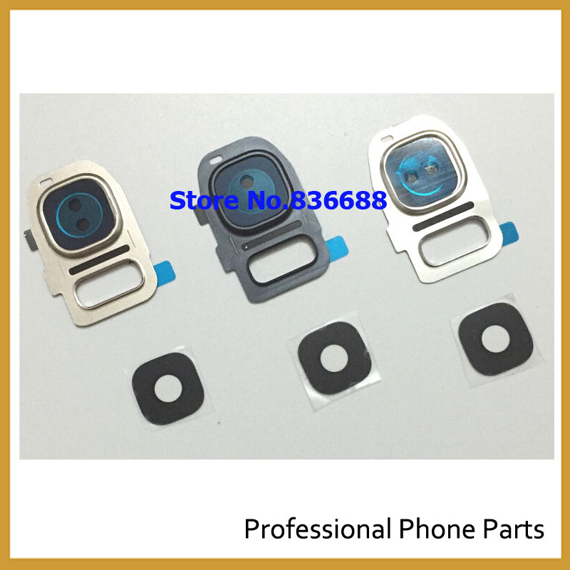 innovative design 84f97 68df3 US $0.89 10% OFF|Original Back Rear Camera Cover circle+lens+adhesive tape  for Samsung Galaxy S7/s7 edge Replacement Repair Part blue/white/gold-in ...