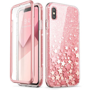 Image 3 - For iPhone X Xs Case 5.8 inch I BLASON Cosmo Series Full Body Shinning Glitter Marble Bumper Case WITH Built in Screen Protector