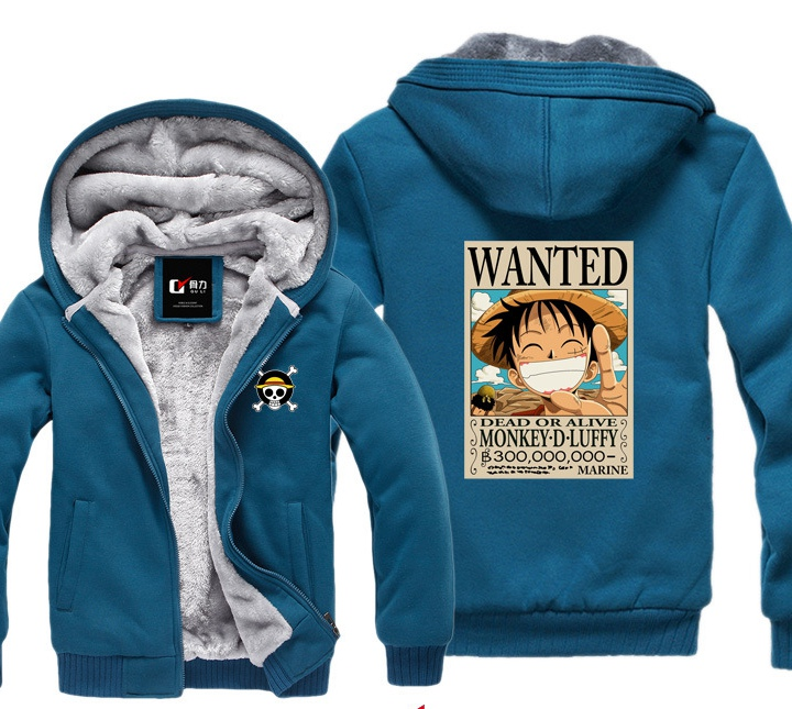 c2bc72be0266 One Piece Luffy Winter Hoodies Sweatshirt Men Casual Male Jackets Hoody  Cloak Shawl Men Cloth Keep ...