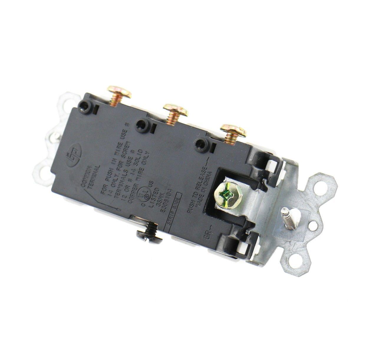 Decora Triple Rocker Switch three single pole switch 120V 15A UL ...