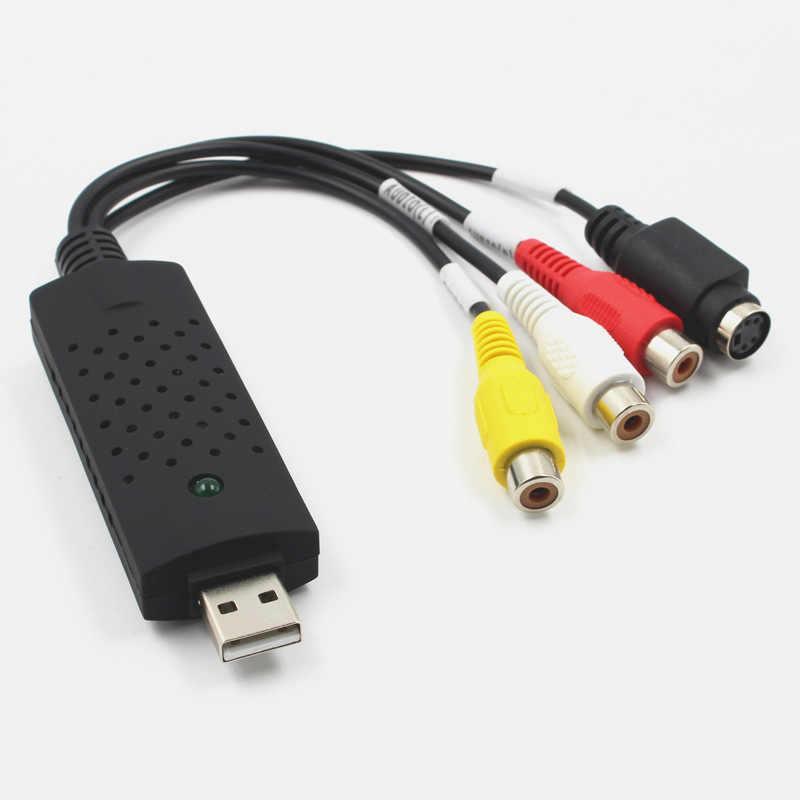 Adaptador de tarjeta de captura de vídeo USB 2,0 Chipset TV DVD VHS DVR captura de Audio convertidor USB compatible con WIN8 WIN10