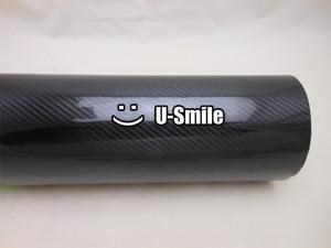 Image 3 - Alta qualidade super brilhante preto 5d fibra de carbono folha envoltório de vinil bolha ar livre para embrulho carro