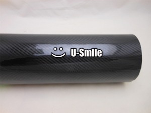 Image 3 - High Quality Super Glossy Black 5D Carbon Fiber Vinyl Wrap Sheet Air Free Bubble For Car Wrapping