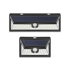 Беспроводной PIR Ночной светильник светодиодный с датчиком движения, на солнечной батарее, перезаряжаемый водонепроницаемый уличный садовый настенный светильник ing