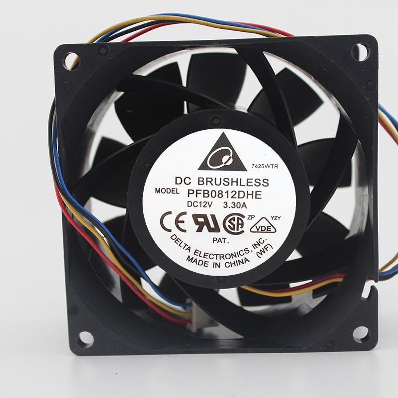 PFC0812DE new 8038 fan 12V 3.3A 8cm air volume fan server