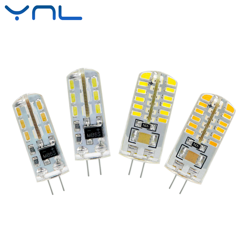 YNL Lampada LED G4 Lamp AC 220V 3W 4W 5W DC 12V G4 LED bulb SMD3014 2835 24 48 64 Replace 10w 30w Halogen Spotlight Chandelier 5x g4 ac dc 12v led bulb lamp smd 1505 3014 2835 2w 3w 4w replace halogen lamp light 360 beam angle luz lampada led