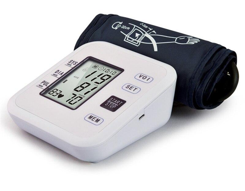 Digital Upper Arm Blood Pressure Monitors Tonometer Portable Health BP Blood Pressure Pulse Monitor Meter Sphygmomanometer цена
