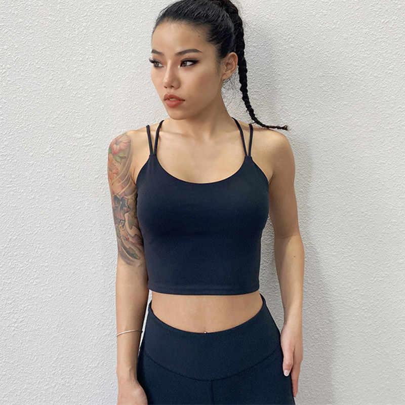 CretKoav بروتيل المرأة بلا أكمام سترة رياضية تجريب تانك توب رياضة التدريب اللياقة البدنية مع وسادة الصدر قميص يوجا رفع اليوغا