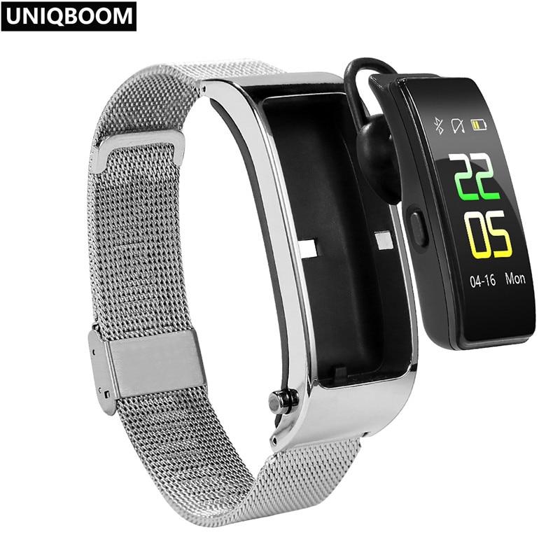 Smart Talk Band Activity Fitness Tracker Bluetooth Smart Bracelet Sport Wristbands Call Earphone Band Blood Pressure Monitor