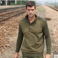 men casual Military uniform sweater thick winter sweater bottoming shirt loose uniformed Pullovers jacket free shipping H1858