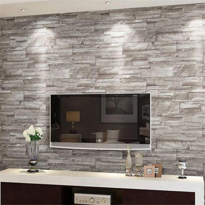 ФОТО Beibehang  Retro embossed wall paper brick wall volume modern white 3d effect brick  wallpaper for walls 3d living  background