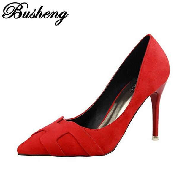 Das Mulheres sapatos de Fundo sapatos de Salto Alto Mulher Bombas 2016 Apontou Toe Salto Stiletto Sapatas Das Mulheres Dos Saltos Altos Das Senhoras Sapatos de Casamento sapatos