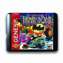 A Aventura De Batman & Robin 16 bits da Sega MD Cartão de Jogo para o Mega Drive para Genesis
