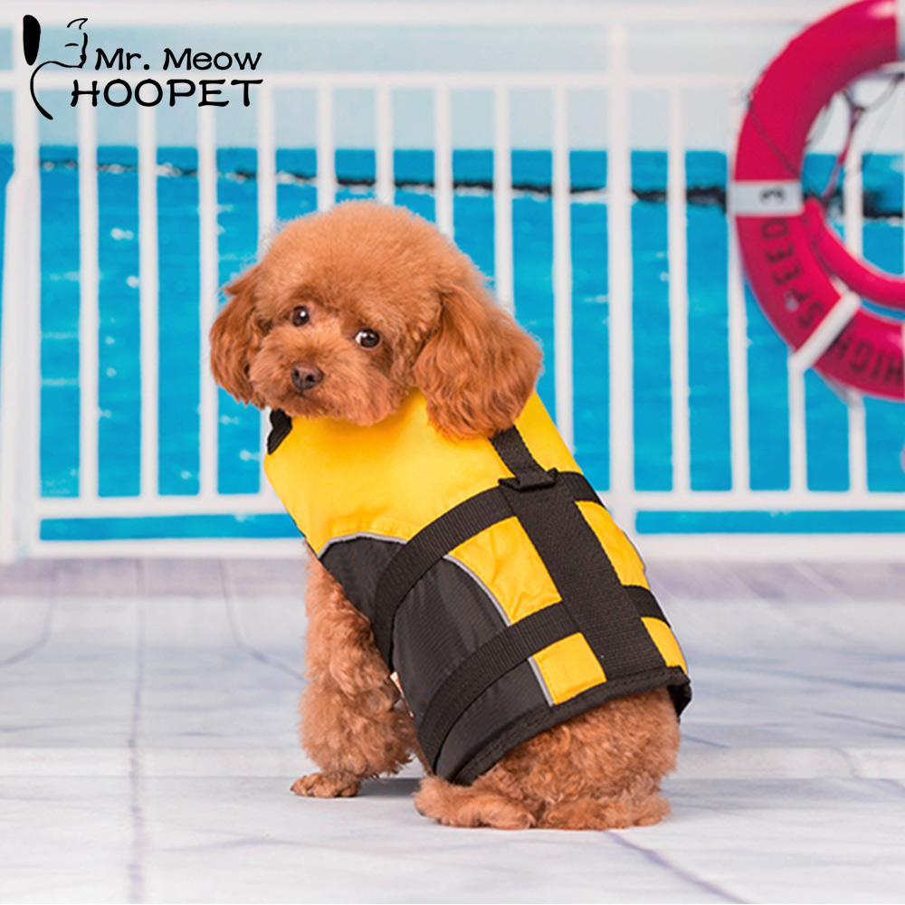 Hoopet Pet Dog Clothes Safety Clothes Small Dog Pet Life Jacket Surfing Swimming Vest Summer Puppy Beach Vacation Supply