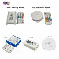 DC12 24V RGB/RGBW led controller By Alexa Google Home Phone iOS Android APP WIFI controller wifi372 373 UFO with 21key RF remote RGB Controlers    -
