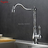 Bagnolux 360 Swivel Polished Solid Chrome Silver Finish Hot Cold Water Sink Tap Sink Mixer Deck Mounted Kitchen Fixture Faucet