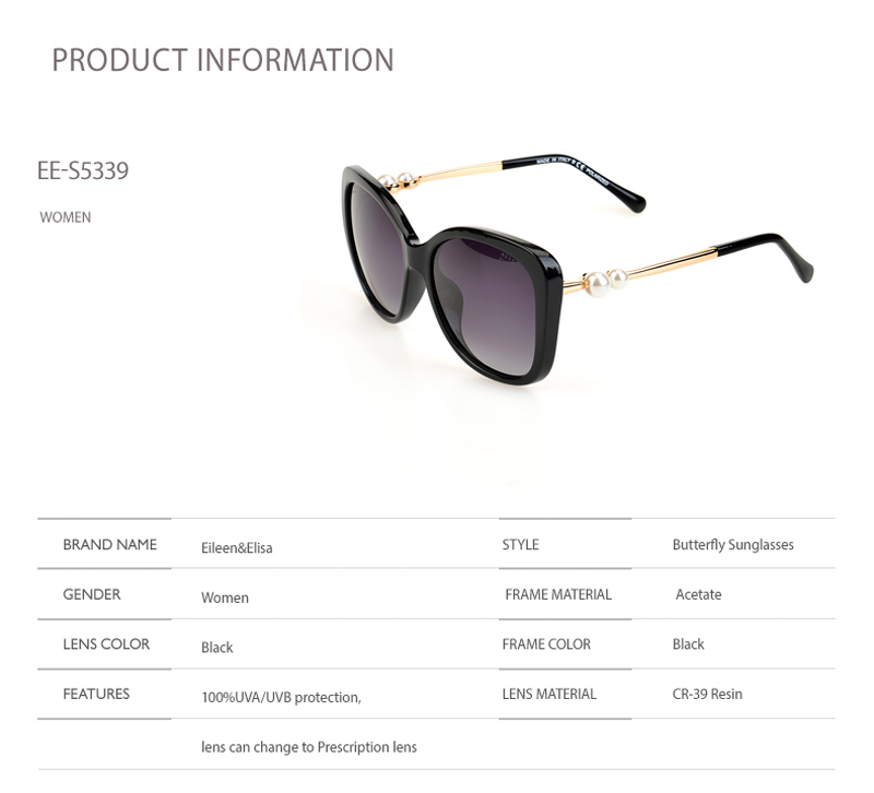 EE Novo Do Vintage Da Moda Óculos De Sol Mulheres Polarizada Óculos De Sol  Gradiente Lente Preto óculos de Sol Oculos de sol Feminino 5526ad1390