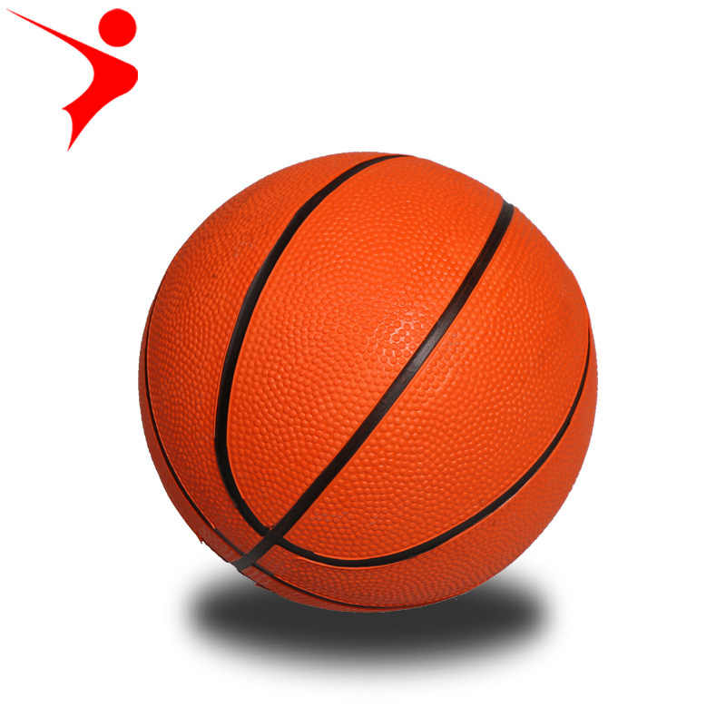 Diameter 11CM/18CM orange 1/3 size rubber Texture of material mini basketball kindergarten game with small basketball