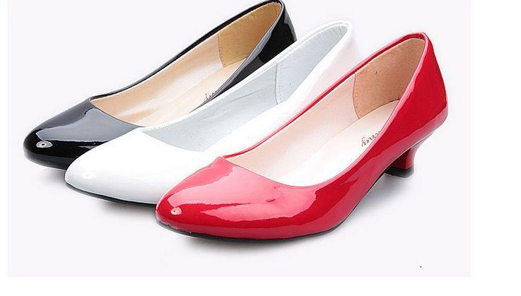 Zapatos Tacon Fino Bajo