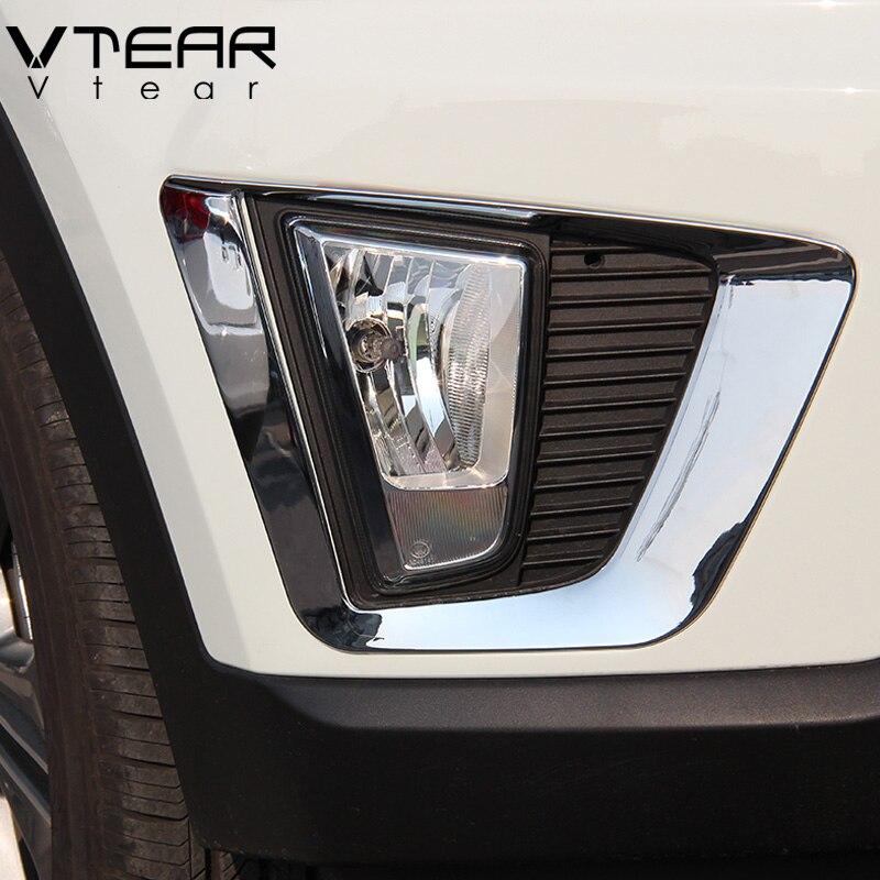 Vtear Für hyundai creta ix25 zubehör Vorne Hinten nebel lichter abdeckung rahmen trim ABS Chrom Außen dekoration 2017 2018 2019