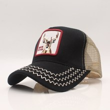 Fashion Embroidery Animal Baseball Caps Men Breathable Mesh Snapback Caps Unisex Sun Hat For Women bone Casquette Hip Hop cap new fashion brand casquette trucker hater snapback unisex leather baseball caps cappelli snapback hip hop hat for men women