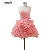 Yewen коктейльное Платья для женщин 2018 розовый Бордовые цветы crysals официальная вечеринка коктейльное Homecoming платье Короткое мини Выпускные пл