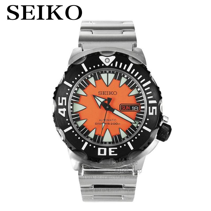 SEIKO watch automatic mechanical watch steel waterproof diving watch orange water ghost male form SRP315K2 SRP737J1 SNZB33J2 seiko watch no 5 automatic mechanical watch male watch snk621k1 snk623k1