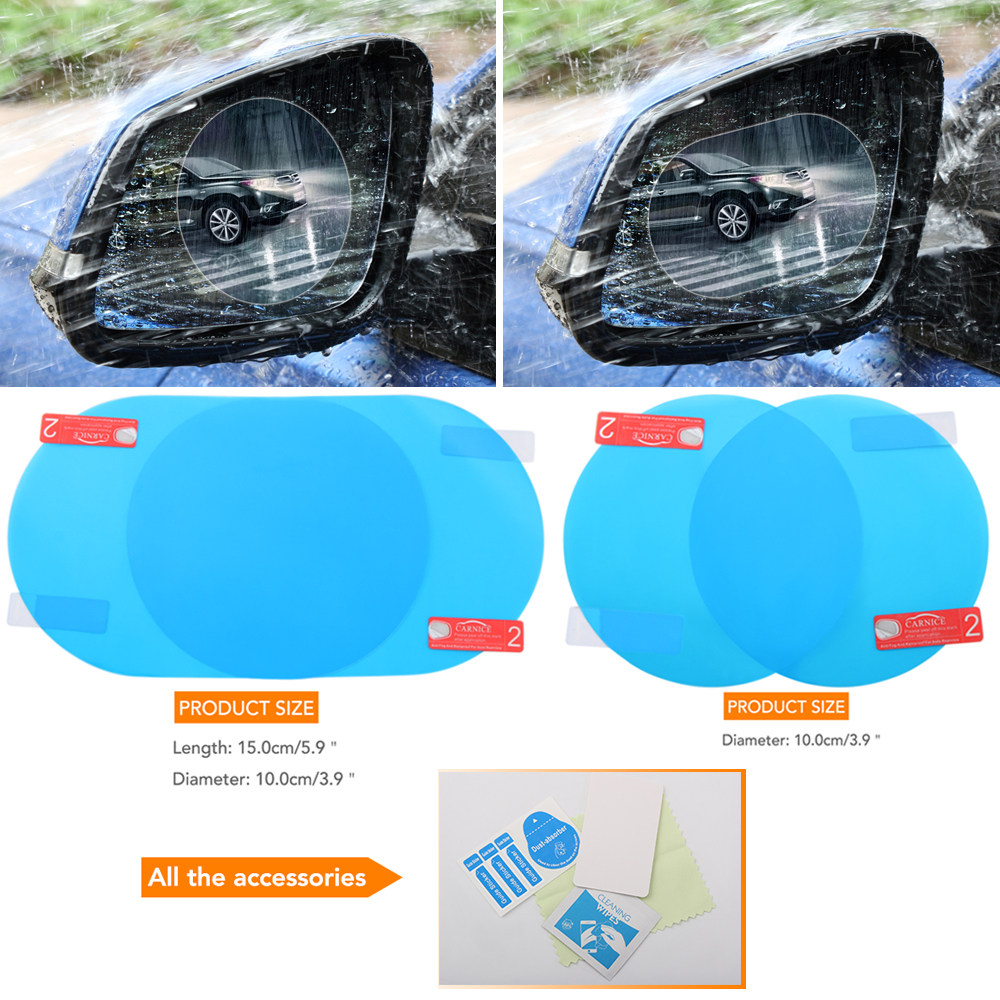 Car Anti Water Mist Film Anti Fog Nano Coating Rainproof Rearview Mirror Window Protective Film Waterproof Motorcycle Styling(China)
