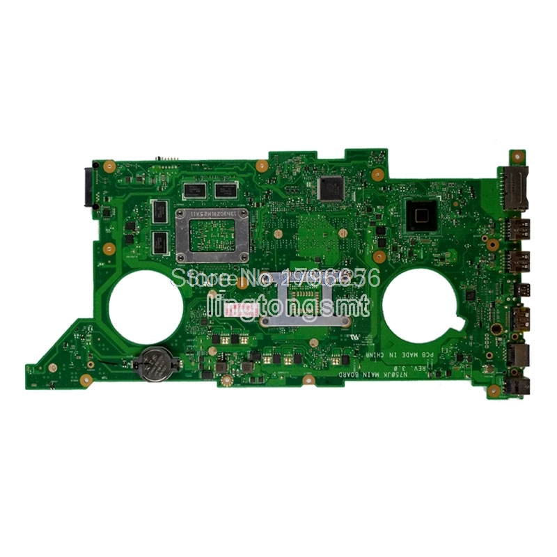 Купить с кэшбэком Free board+N750JK GT850M Graphics card -I5-4200 Motherboard For ASUS N750J N750JK N750JV Notebook notebook motherboard mainboard