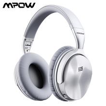 [نسخة محدثة] الأصلي Mpow H5 سماعة رأس مزودة بتقنية البلوتوث نشط إلغاء الضوضاء سماعات لاسلكية مع هيئة التصنيع العسكري للكمبيوتر آيفون شاومي