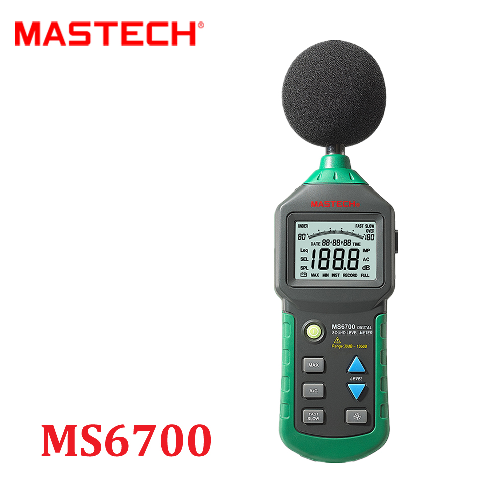 MASTECH MS6700 Auto Range Digital Sound Level Meter Tester Decibel Noise Meter 30dB to 130dB With Clock and Calendar Function  цены