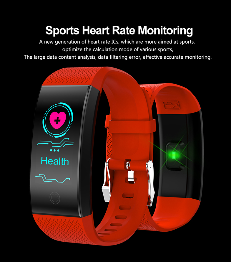 FROMPRO 18 Color Screen Smart Bracelet Heart Rate Monitor IP68 Waterproof Fitness Tracker Band Bluetooth 4.0 Sports Wristbands 5