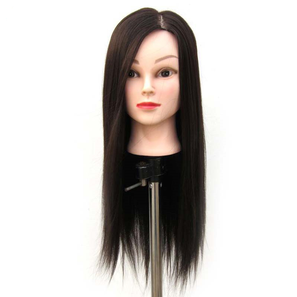 OLD STREET 60cm Professional Training Head With Synthetic Hair Black Brown Mannequin Head For Hairstyles Hairdressing Head Model