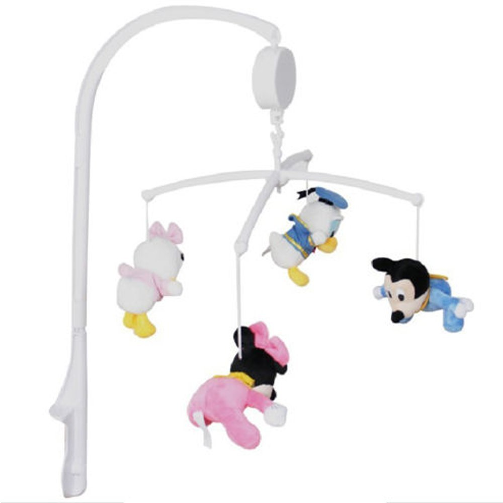Baby bed mobile - Musical Baby Crib Mobile Bed Bell Arm Bracket Holder Wind Up Music Box Music Sleep Soother Toys Are Not Included In Baby Rattles Mobiles From Toys