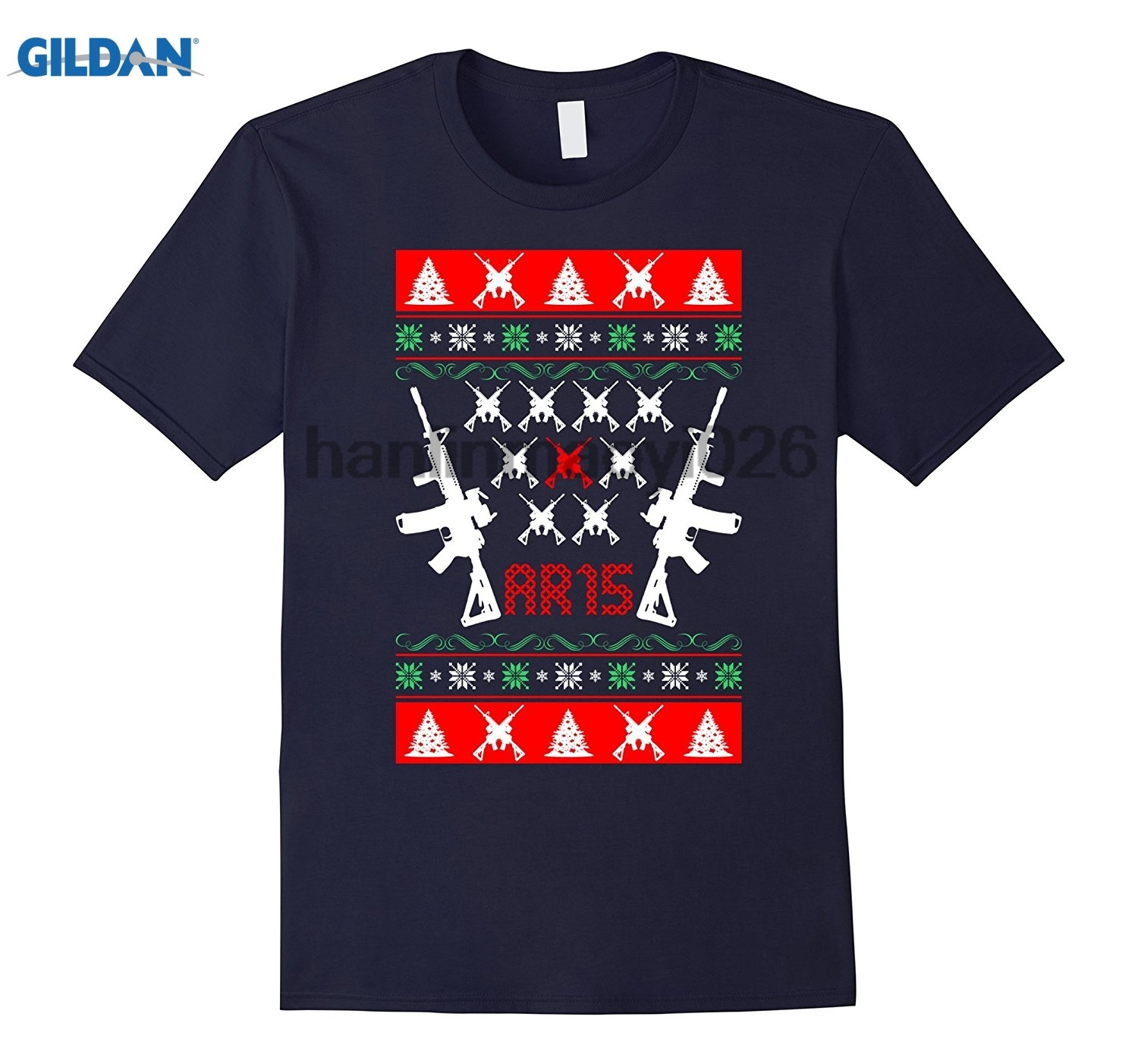 GILDAN Ar 15 Ar15 Ugly Christmas Sweater TShirt ...