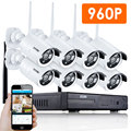 ZOSI 8CH CCTV System 960P HDMI NVR 8PCS 1.3MP IR Outdoor P2P Wireless IP CCTV Camera Security System IP Camera Surveillance Kit