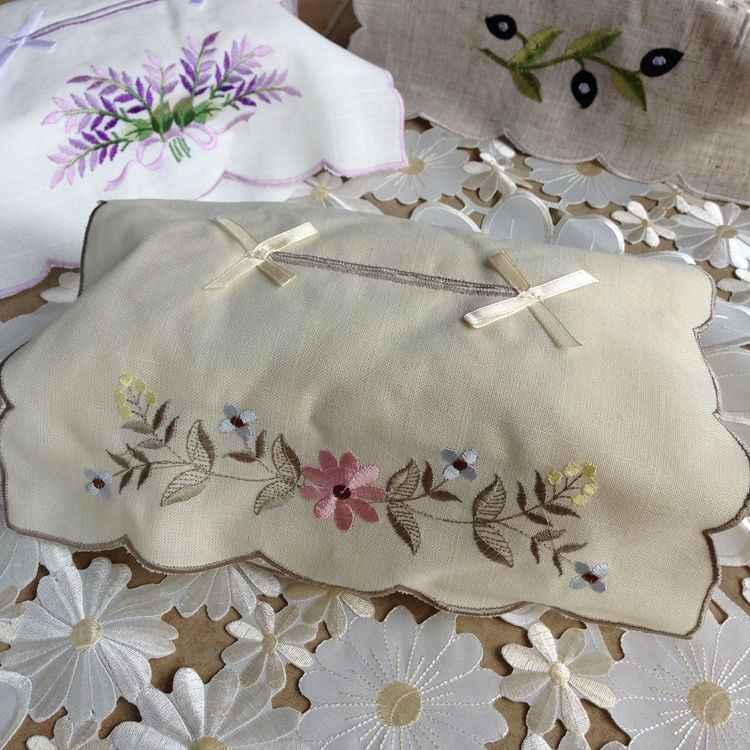 กระดาษกล่องกระดาษทิชชู,เย็บปักถักร้อยผ้าลินินเนื้อเยื่อกรณีผู้ถือกระดาษ