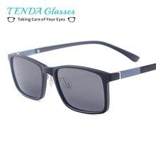 Homens Mulheres TR90 Leve Retângulo Moda Condução Óculos Polarizados Óculos  De Prescrição Para Miopia Lentes Progressivas 14b38785a8