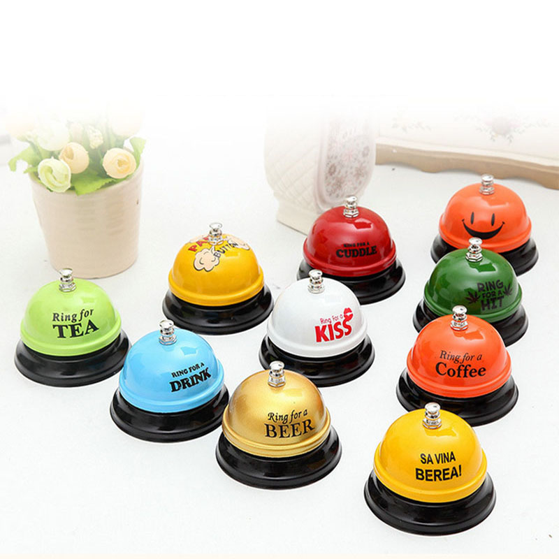 1pcs Colorful Desk Kitchen Hotel Counter Reception Restaurant Bar Ringer Bell Service Call Bell Tools High Quality