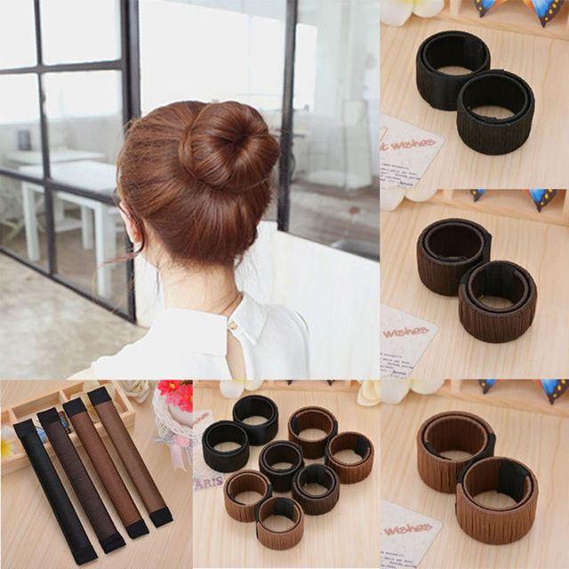 1 pieza peluca sintética Donut cabello moño para mujer diadema Magic Bun Maker accesorios para el cabello plato francés estilo de pelo torcido herramienta