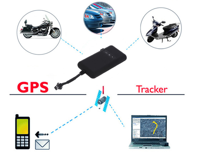 Newest Guaranteed 100% 4 band car GPS tracker GT02A Google link real time tracking Motorcycle GSM GPS Tracker free shipping