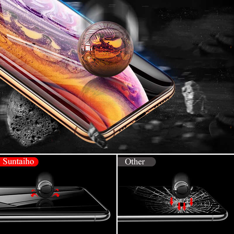 9D الزجاج الواقي آيفون 11 برو ماكس الزجاج على آيفون 7 6 8 X R XS ماكس حامي الشاشة آيفون 7 6 6s حماية الشاشة XR X