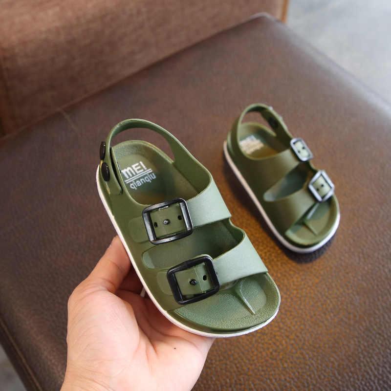 2019 Nieuwe Jongens Sandalen Kinderen Zomer Strand Schoenen voor Kinderen Sport Zachte Anti-slip Toevallige Peuter Baby Leer Platte sandalen 23-32