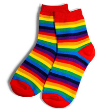 Rainbow Color Macaron Women Socks Cotton Candy Colors Girls Student Striped Fashion Soft Kawaii Cute Funny Lady High New