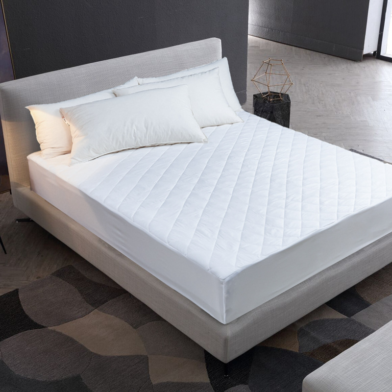 2018 Hot Sale Bed Cover Brushed Fabric Quilted Mattress Protector Waterproof Mattress Topper For Bed Anti-mite Mattress Cover