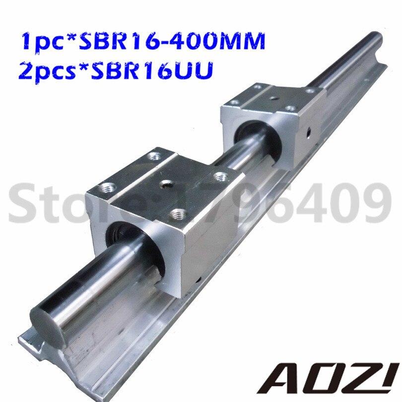 ФОТО 1pc 400mm Linear Rail SBR16 + 2pcs SBR16UU New Block Motion Bearing Blocks Free Shipping